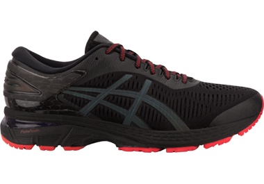 ASICS black and red Lite-show shoes red shoelaces
