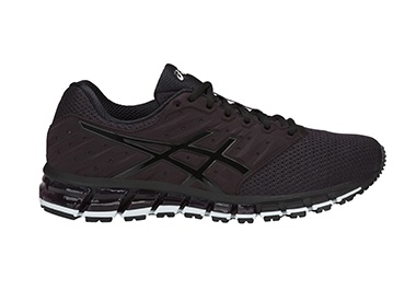 Mens black running and training shoe