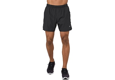Men's black running shorts