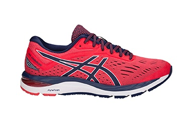 Men's red running shoes