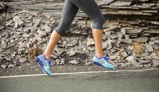 female running wearing gel-quantums