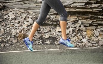 female running wearing gel-quantums