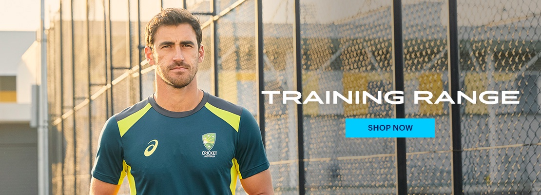 Mitchell Starc wearing Cricket Australia training gear