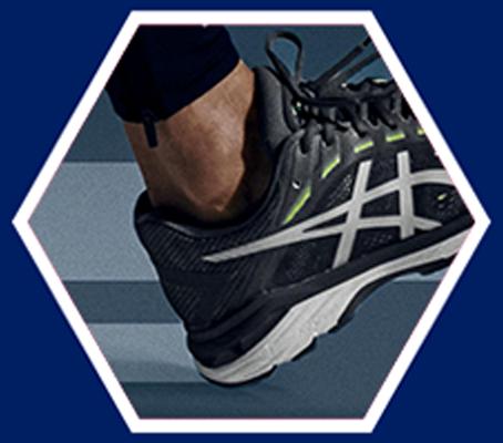 heel of black running shoe