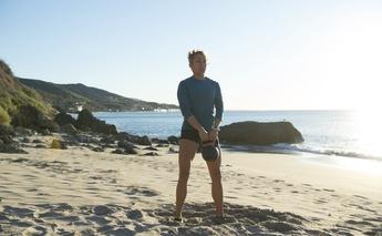 kettlebell workout on the beach