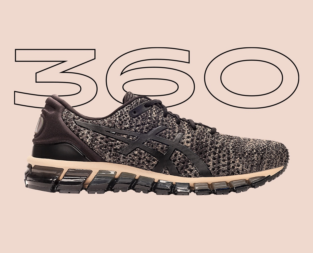 Black and Grey Gel-Quantum 360? shoe