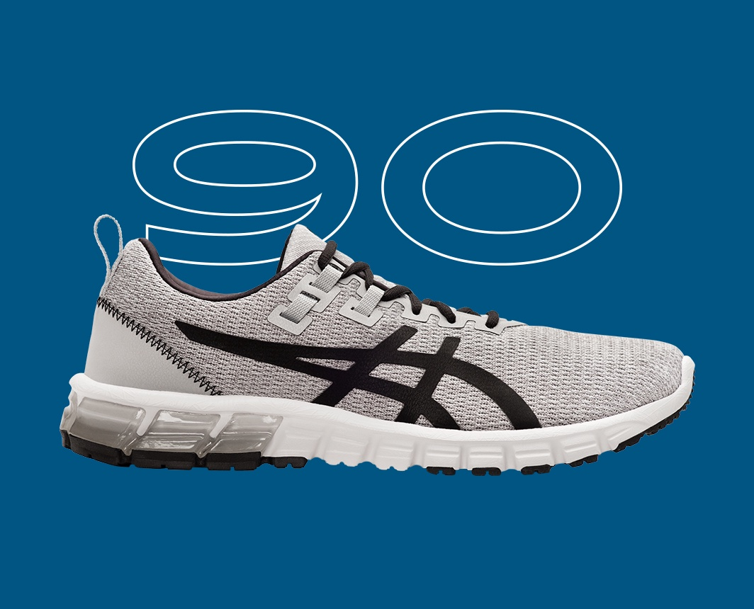 Black and Grey Gel-Quantum 90? shoe