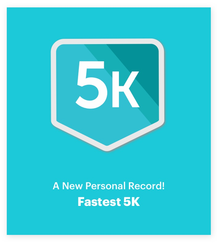 Runkeeper 5K award