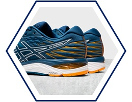GEL® technology in heel of GEL-Cumulus 21 Mako Blue/White