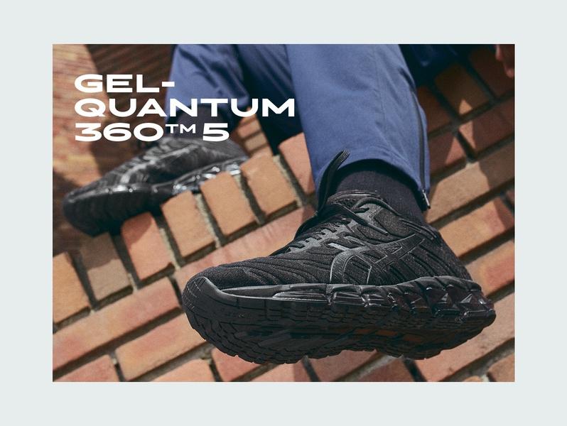 GEL-QUANTUM 360? 5 black men's sport style sneaker.