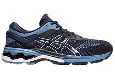 Gel-Kayano 26 in MIDNIGHT/ GREY FLOSS