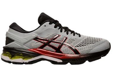 Men's Gel-Kayano 26 in PIEDMONT GREY/ BLACK