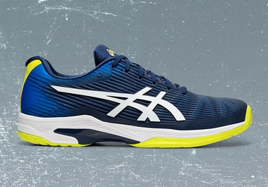 Gel-Solution Speed FF Blue, Navy and Yellow Men's Tennis Shoe