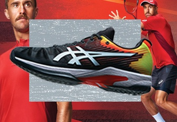 Steven Johnson and the Solution Speed FF Men's Tennis Shoe