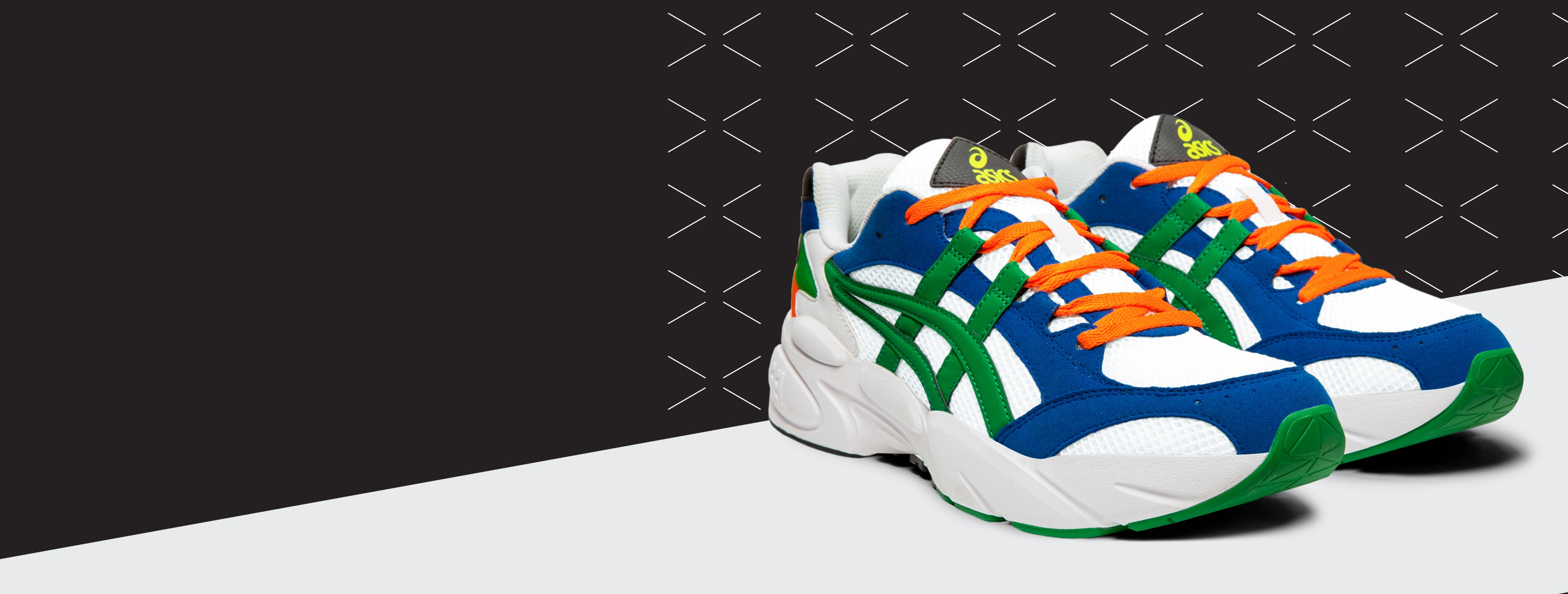 Blue, Green, and Orange GEL-BND Shoes