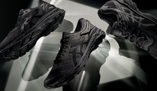 the monochrome collection - all black running shoes