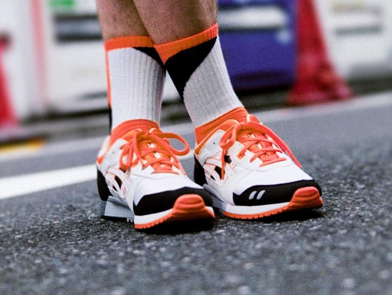 Men's white black and orange Gel-Lyte? III shoe