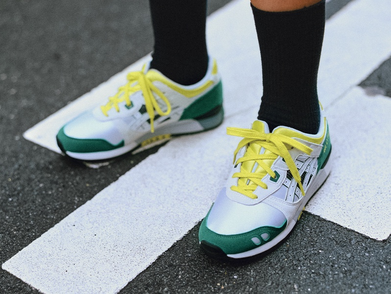 Green white and yellow Gel-Lyte™ III shoe