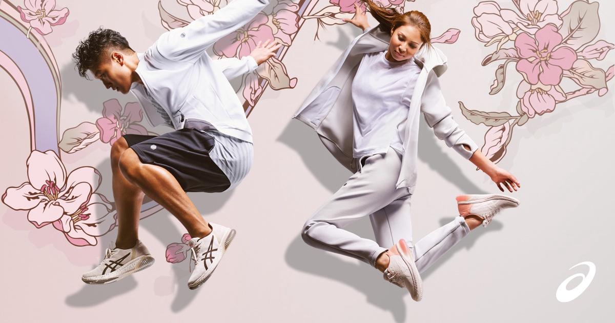 ASICS   Nouvelle SAKURA COLLECTION de chaussures et vêtements