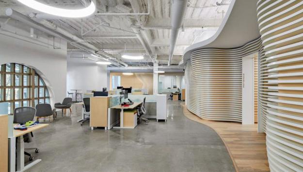 Inside of the ASICS office.