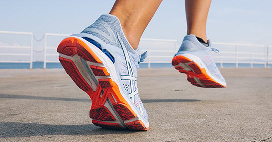 asics supportive running shoes
