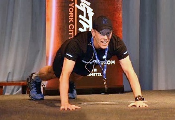 Image of Dr Metzl mid push-up