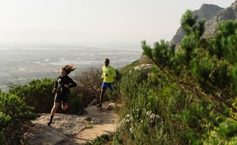 trail running in winter in Cape Town