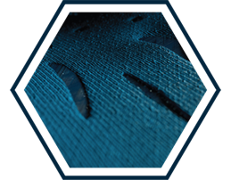 Closeup of breathable mesh material.