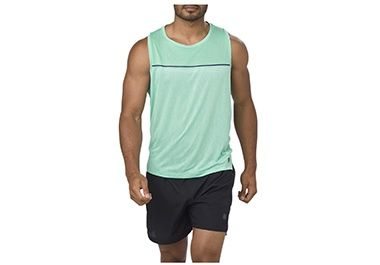 Turquoise men's workout tank top.