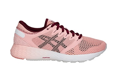 Women's pink running shoe.