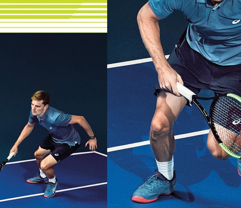 david playing tennis
