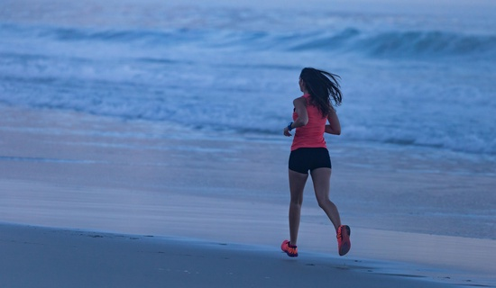 Carla West beach run