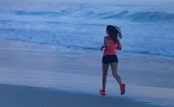 Carla West beach run