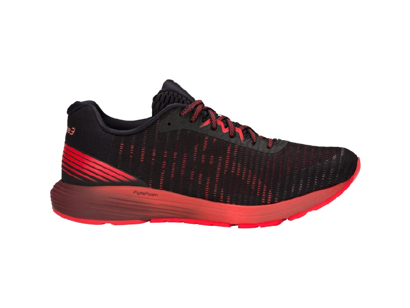 ASICS Mens Dynaflyte 3 shoe black and red colour