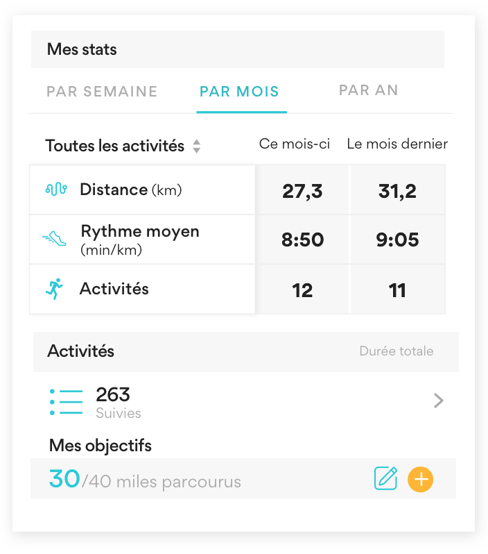 Phone screenshot of runkeeper app