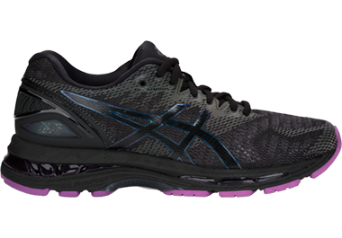 ASICS black and purple Lite-show shoes