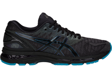 ASICS black and blue Lite-show shoes